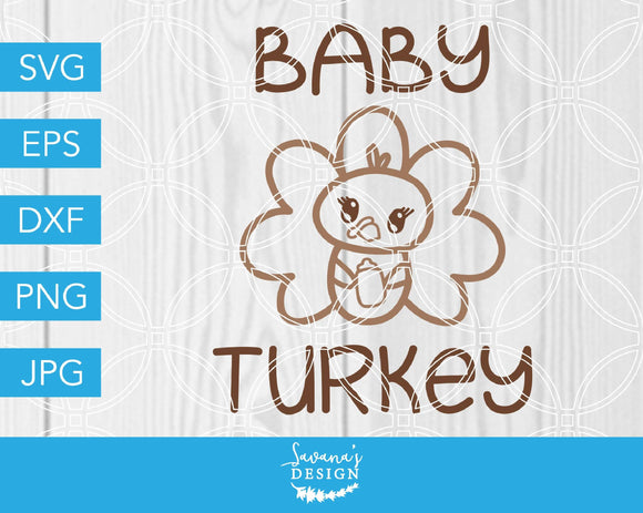 Baby Turkey SVG Cut File