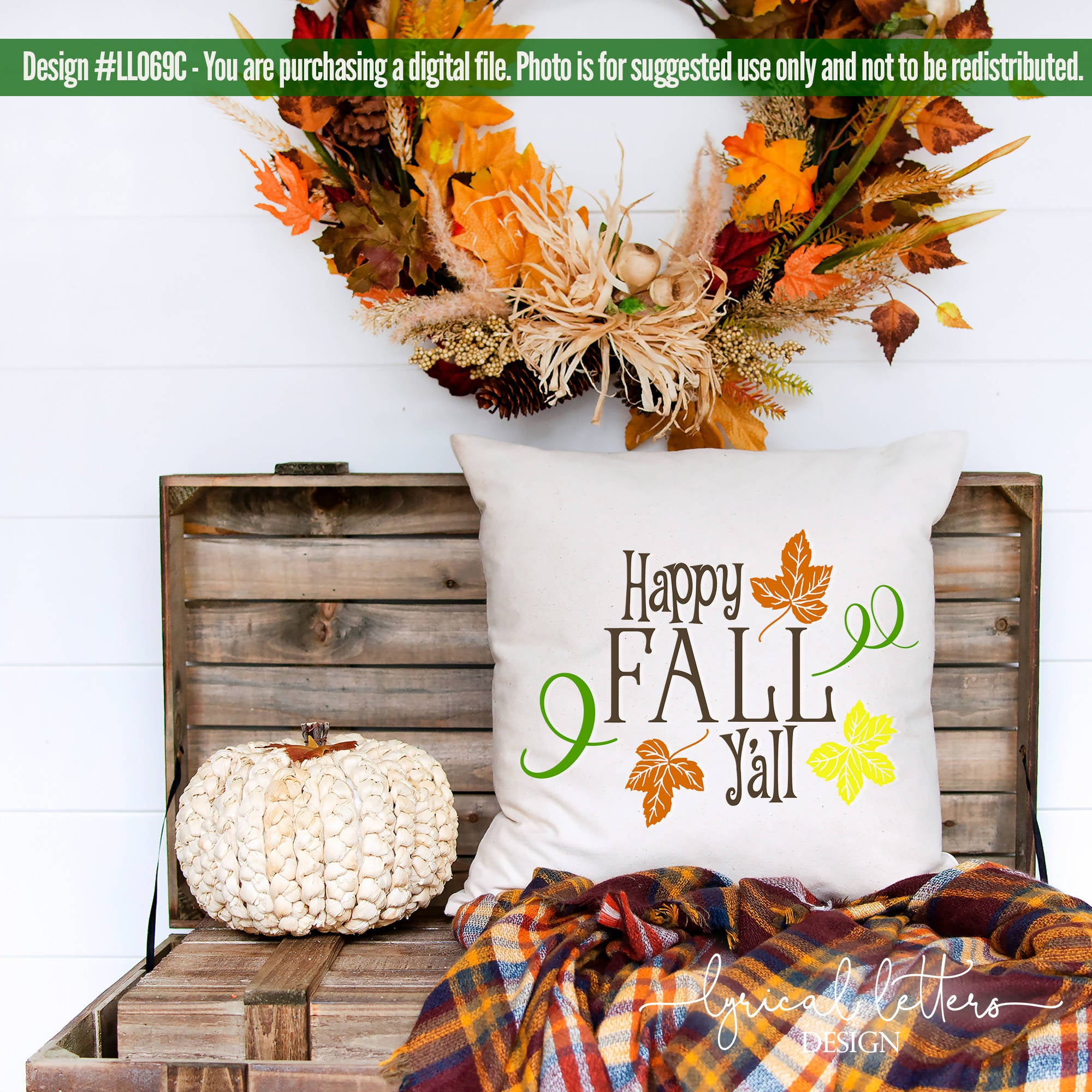 Happy Fall Y All With Leaves Svg Cut Files Svg Font Market