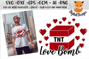 Pixelated Heart and TNT Love Bomb