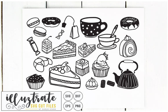 Tea and Cake SVG Cut File