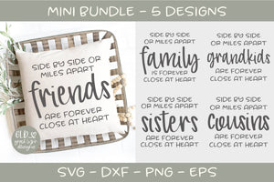 Side By Side Or Miles Apart Mini Bundle - 5 Designs