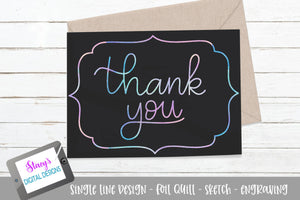 Foil quill - Thank you SVG - Card Design