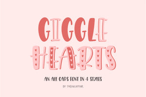 Giggle Hearts OTF and TTF Font