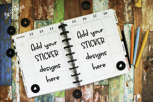 Classic Planner or Sticker Mock Up PNG | JPG
