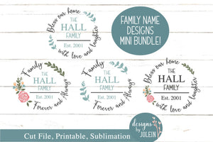Family Name Design Bundle