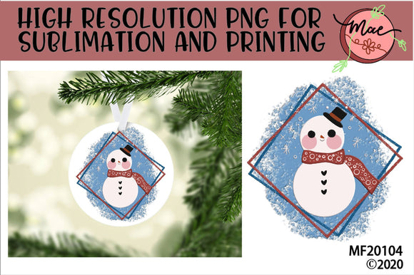 Winter Snowman Sublimation