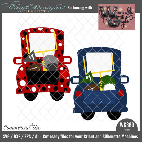 Whimsy Football Truck Cut File WG360