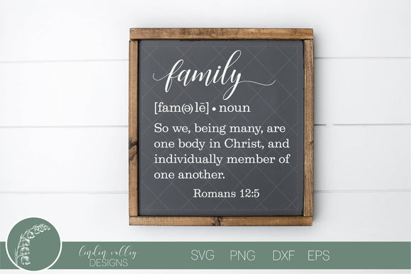 Family Definition SVG|Family SVG|Scripture SVG