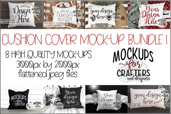 Cushion / Pillow Cover BUNDLE #1 - EIGHT MOCK-UPS