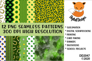 St. Patrick's Day Irish Inspired Digital Paper Pack