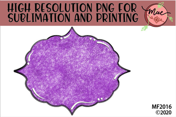 Purple Sublimation Frame Background