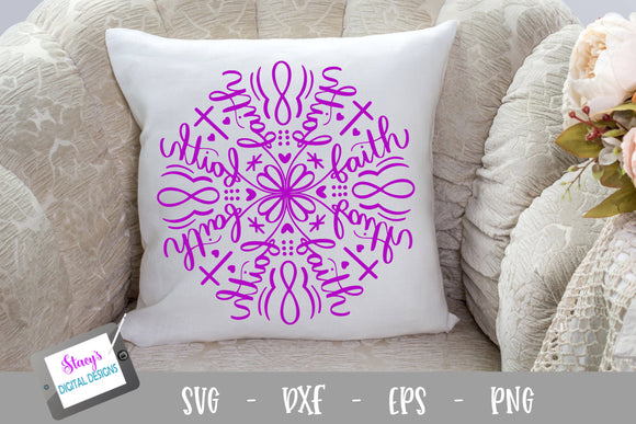 Mandala SVG - Faith Mandala SVG