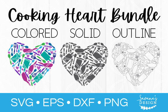 Cooking Heart SVG Bundle