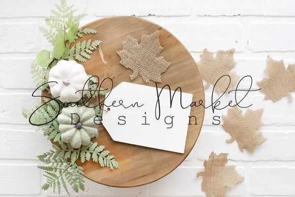 4x6 WOOD TAG FALL DIGITAL MOCK UP STOCK PHOTOGRAPHY