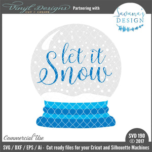 Let it Snow Snowglobe Cut File