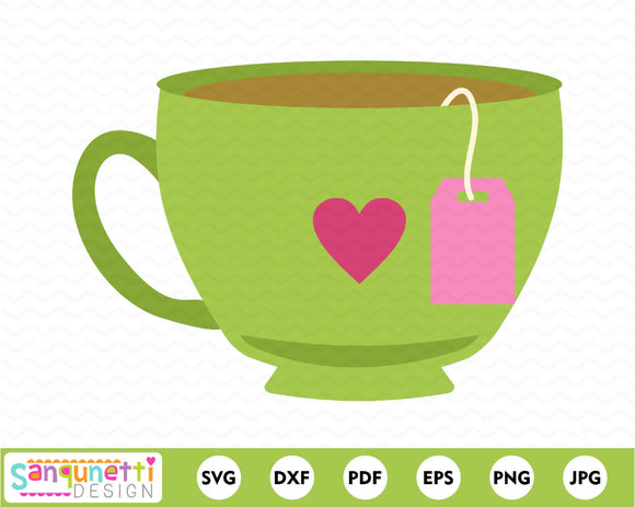 Tea Cup Character SVG Cutting file