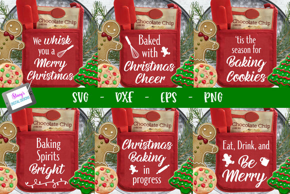 Christmas Pot Holder Bundle - 6 Christmas Pot Holder SVG Designs