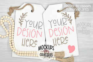 Door Tag, Door Sign, Wall Tag Hanging Mock-Up - DUO