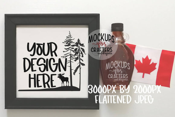Reverse Canvas Mock-Up - Canadian theme