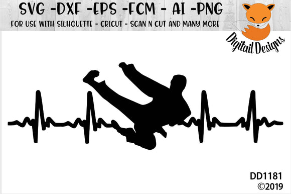 Martial Arts Taekwondo EKG SVG