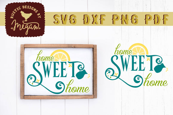 Home Sweet Home Lemon Wood Sign SVG DXF Cut File