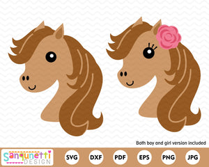 Horse Head SVG, Horse face cutting file