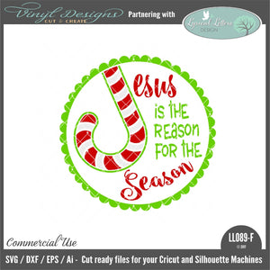 Jesus Is the Reason For The Season Ornament Design