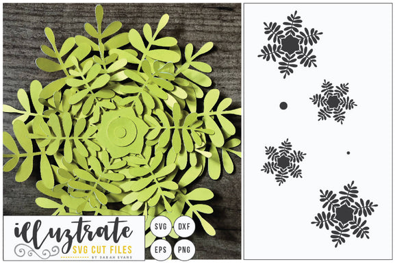 Layered Flower SVG Cut File