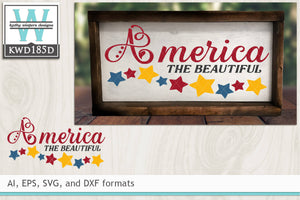 America The Beautiful cut file