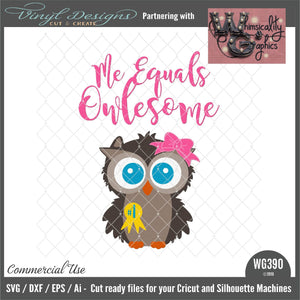 Me Equals Owlesome Owl Cut File WG390