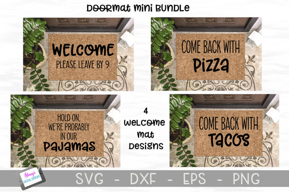 Doormat Mini Bundle - 4 Funny welcome mat SVG Designs