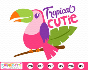 Tropical cutie Parrot svg, summer cutting file