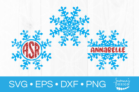 Snowflake Monogram SVG Bundle