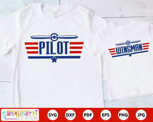 Pilot and wingman Father and son SVG