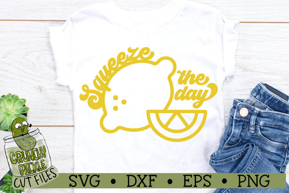 Squeeze the Day Lemons SVG Cut File