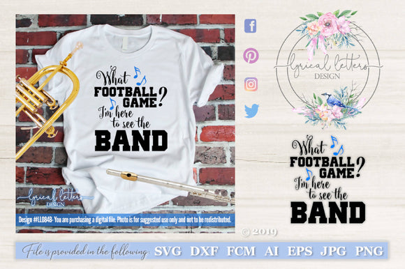 What Football Game Marching Band SVG