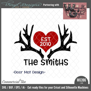 Hunting Personalized Door Mat Cut File WG396