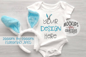 Baby Bodysuit , Easter Theme, Mock-Up