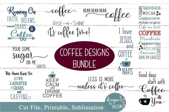 Coffee Designs Bundle