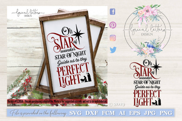 Star of Wonder Star of Night Christmas SVG Cut File