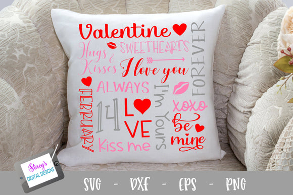 Valentine Subway Art SVG - Valentine SVG