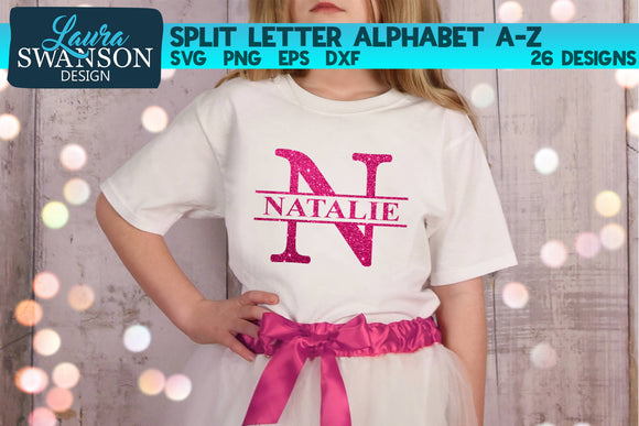 Split Letters A-Z | Split Monograms SVG Files