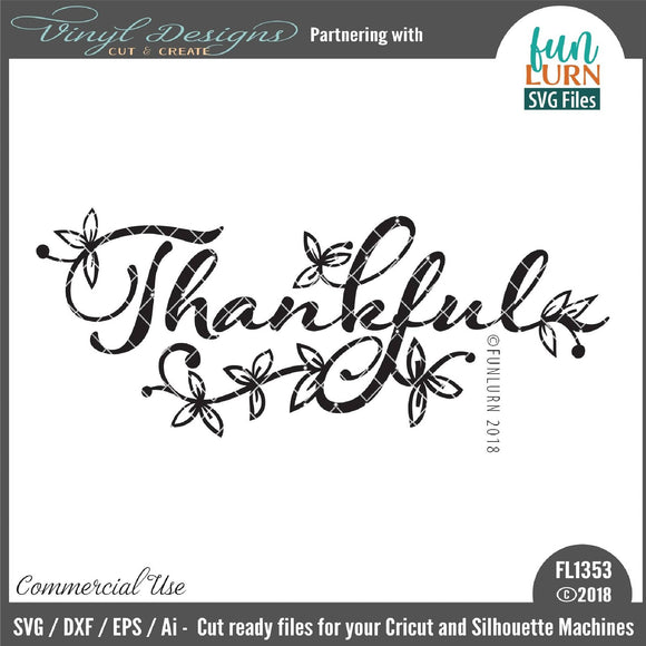 Thankful Cut File