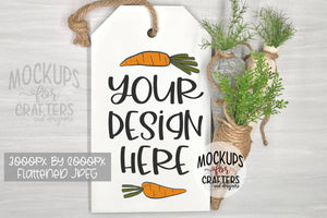 Door Tag, Door Sign, Wall Tag Hanging Mock-Up