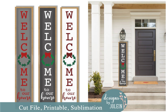 Christmas Welcome Porch Sign