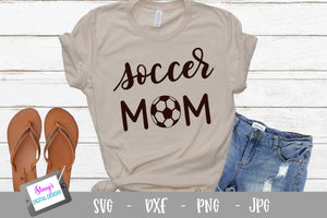 Soccer SVG - Soccer Mom SVG - Handlettered