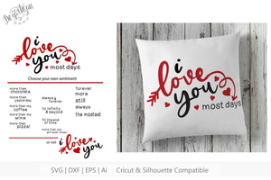 I Love You Fill In Blank SVG | DXF Cut File