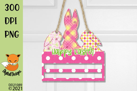 Easter Bunny Rail Sublimation Design