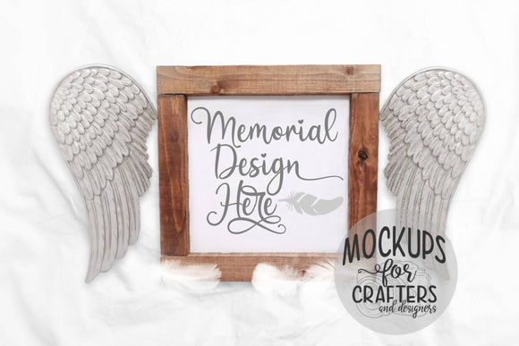 Mock-Up - Wood Sign - Memorial theme
