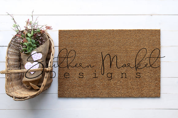 VALENTINE DOORMAT DIGITAL MOCK UP STOCK PHOTOGRAPHY
